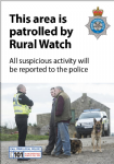 NYP16-0013 - Poster: This area is patrolled by Rural Watch